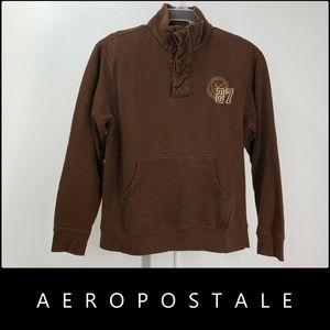 Aeropostale Men Pull Over Long Sleeve Sweater Sz L